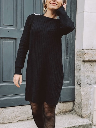 ROBE PULL NOIRE MAELYS