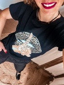T SHIRT  KISS LEOPARD