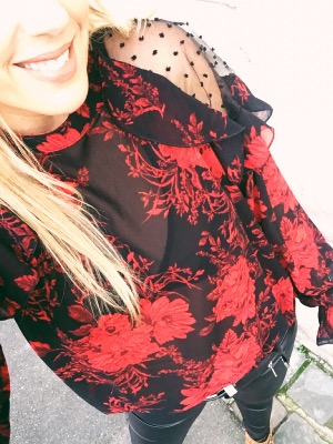 BLOUSE ROUGE DIANE
